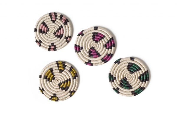 Textured and woven neon leopard print coasters make the perfect housewarming gift for your friends and family in 2021.